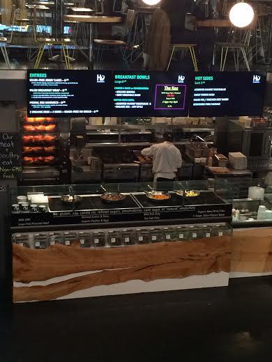Hu Kitchen hot foods bar